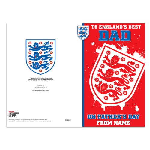 England FC Father's Day Card - Standard Size